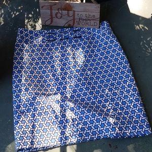 Rafaella  cotton print skirt